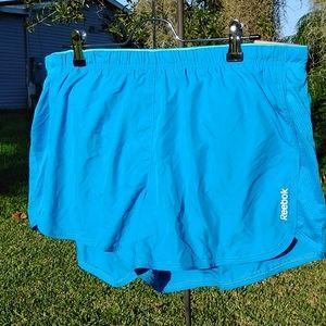 Reebok Blue Slim 11/14 Running Shorts NWT